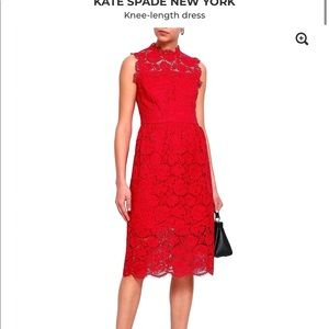 Kate spade red lace dress